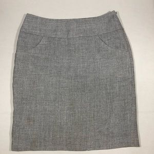 The Limited Silver Grey Pencil Skirt